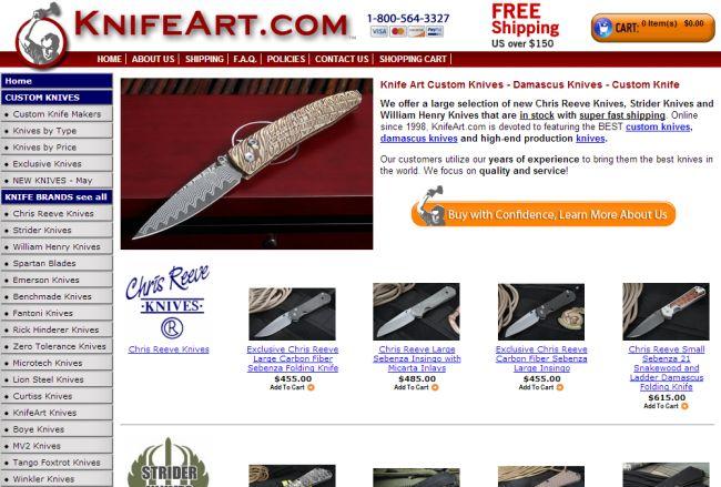 Интернет-магазин Knifeart.com
