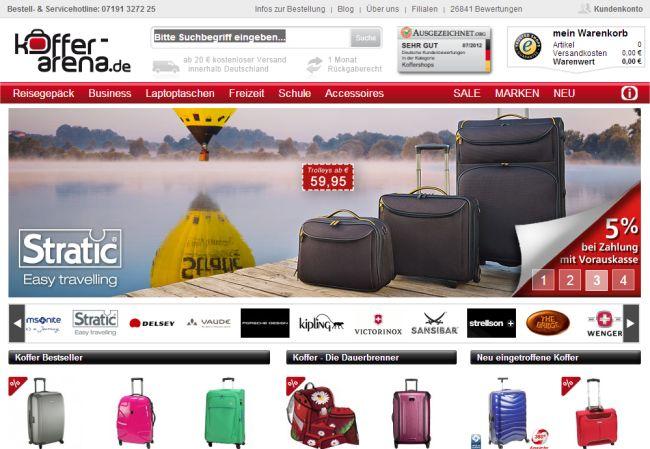 Интернет-магазин Koffer-arena.de