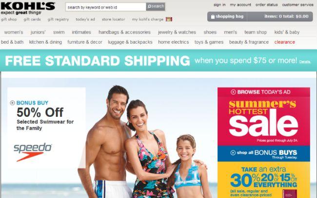 Интернет-магазин Kohls.com