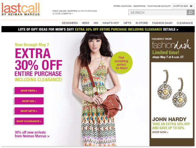 Интернет-магазин Lastcall.com