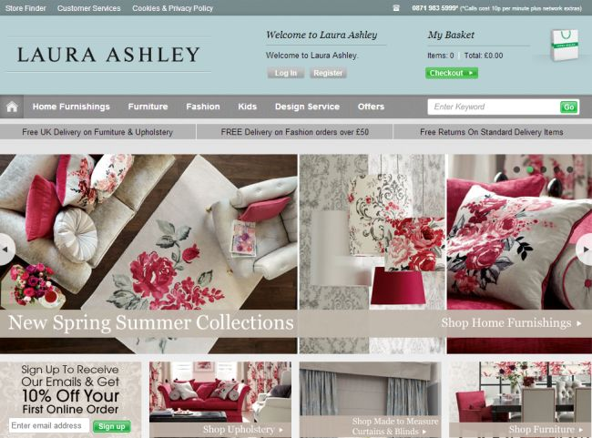Интернет-магазин Lauraashley.com