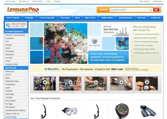 Интернет-магазин Leisurepro.com