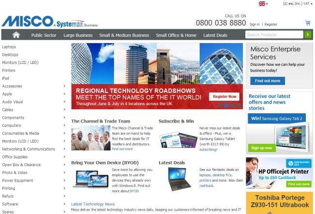 Интернет-магазин Misco.co.uk