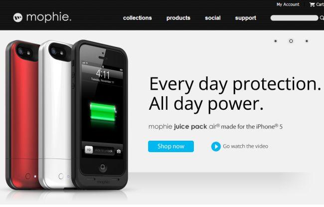 Интернет-магазин Mophie.com