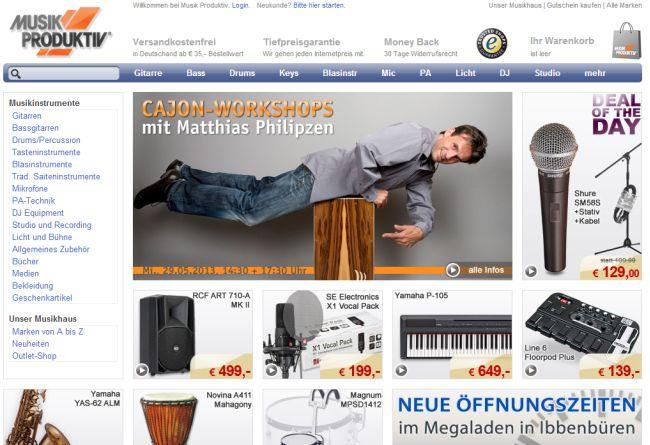 Интернет-магазин Musik-produktiv.de