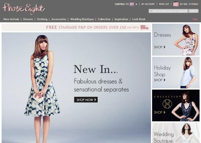 Интернет-магазин Phase-eight.co.uk