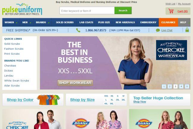 Интернет-магазин Pulseuniform.com