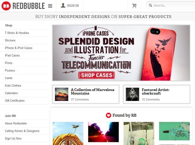 Интернет-магазин Redbubble.com