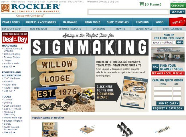 Интернет-магазин Rockler.com