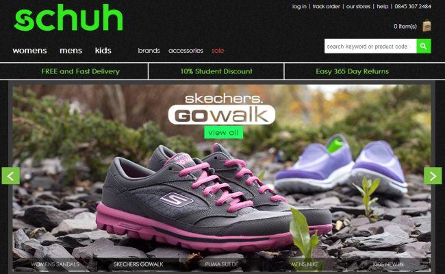 Интернет-магазин Schuh.co.uk