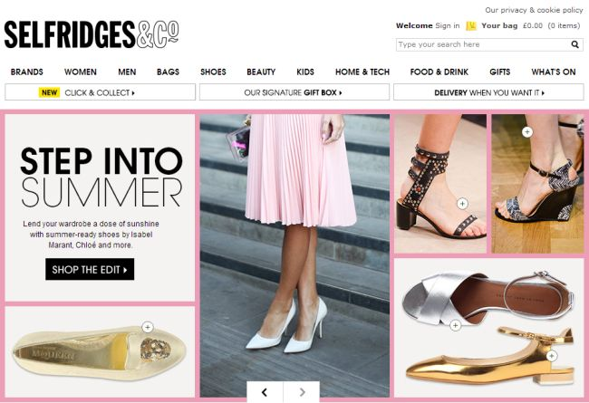 Интернет-магазин Selfridges.com