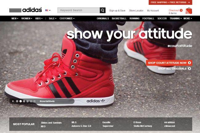 Интернет-магазин Shopadidas.com