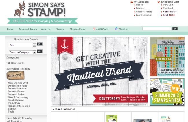 Интернет-магазин Simonsaysstamp.com