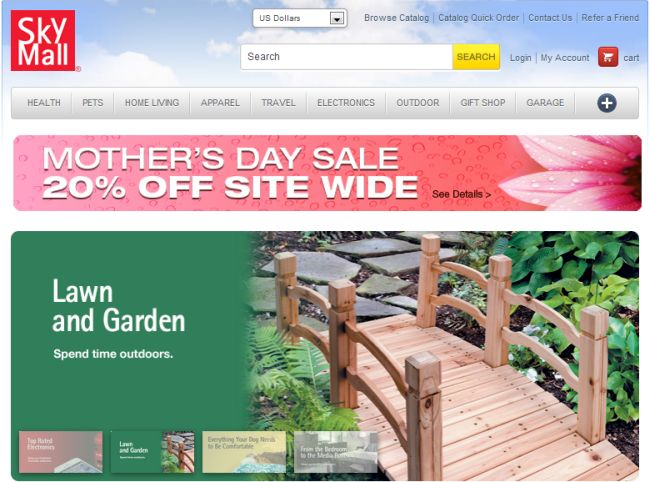 Интернет-магазин Skymall.com