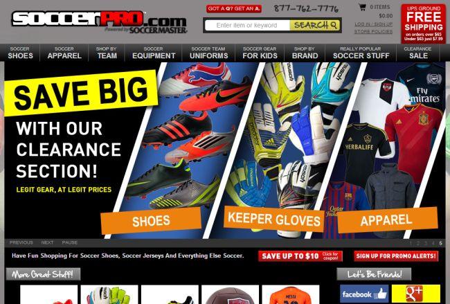 Интернет-магазин Soccerpro.com