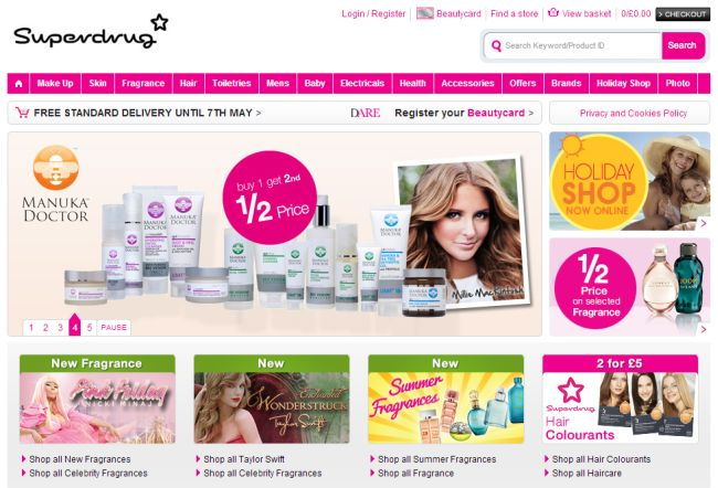 Интернет-магазин Superdrug.com