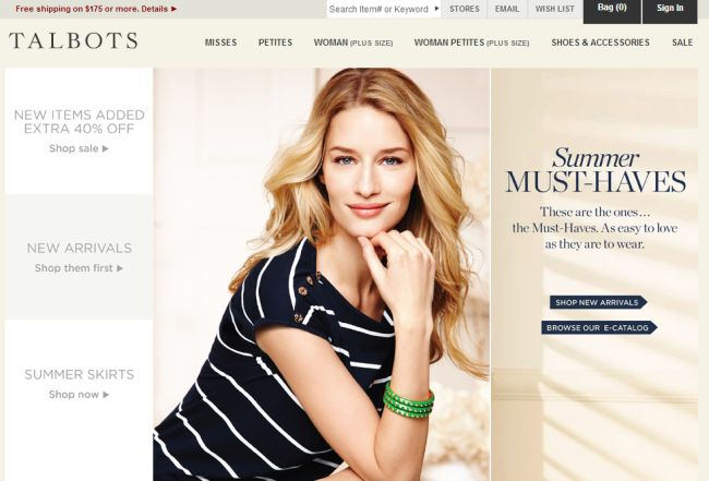 Интернет-магазин Talbots.com