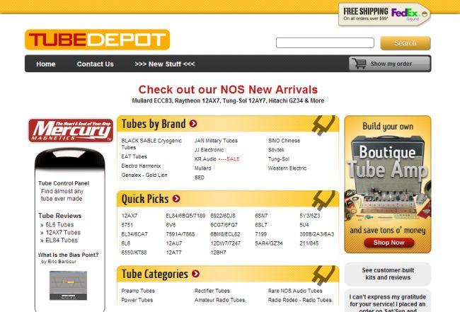 Интернет-магазин Tubedepot.com