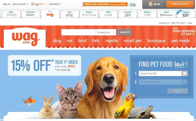 Интернет-магазин Wag.com
