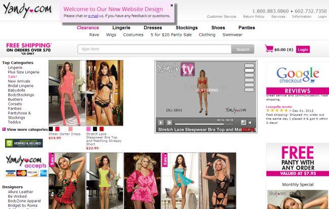 Интернет-магазин Yandy.com