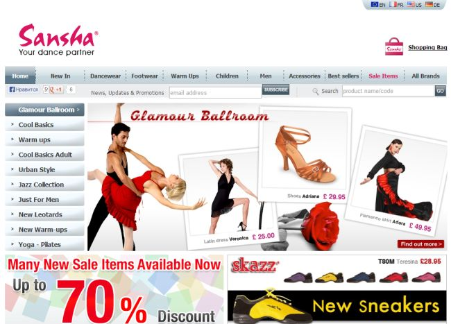 Интернет-магазин London.sansha.com
