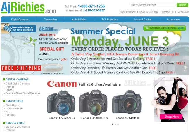 Интернет-магазин Ajrichies.com