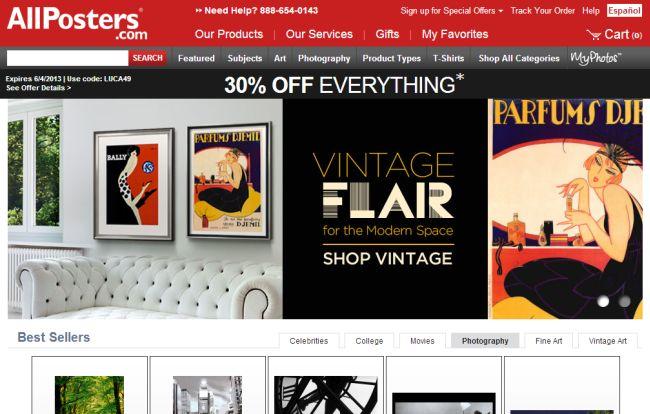 Интернет-магазин Allposters.com