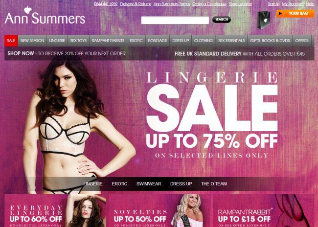 Интернет-магазин Annsummers.com