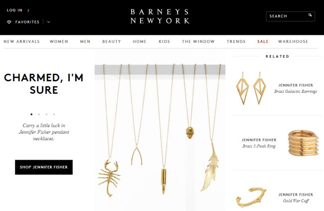 Интернет-магазин Barneys.com