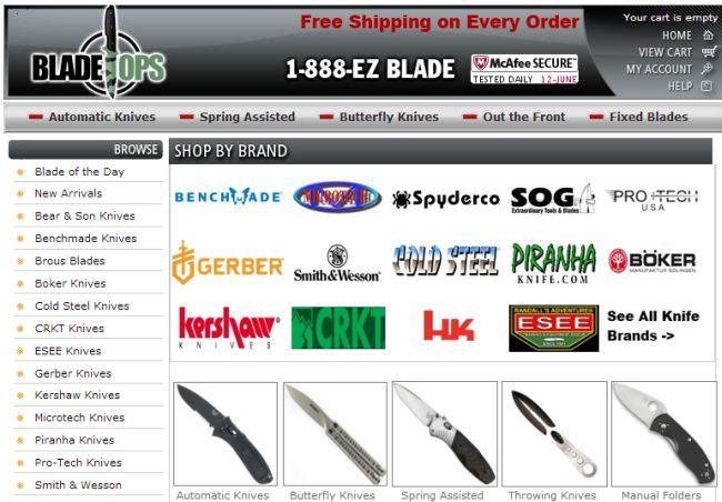 Интернет-магазин Bladeops.com
