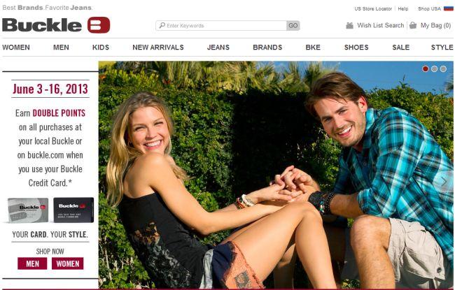 Интернет-магазин Buckle.com