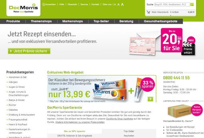 Интернет-магазин Docmorris.de