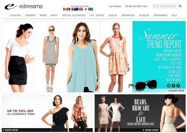 Интернет-магазин Edressme.com