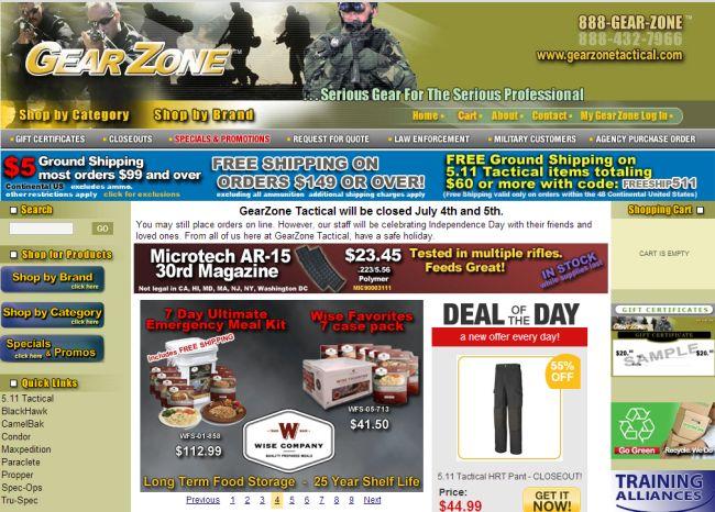 Интернет-магазин Gearzonetactical.com