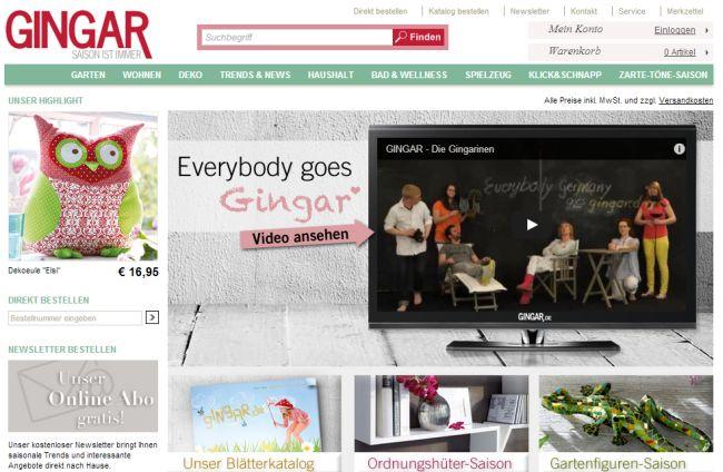 Интернет-магазин Gingar.de