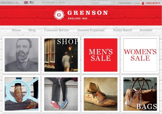 Интернет-магазин Grenson.co.uk