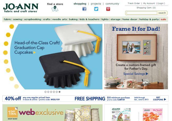 Интернет-магазин Joann.com