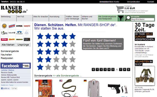 Интернет-магазин Ranger-shop.de