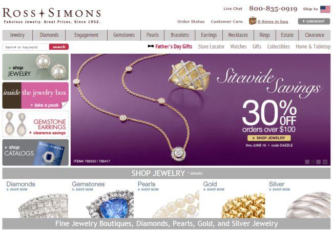 Интернет-магазин Ross-simons.com