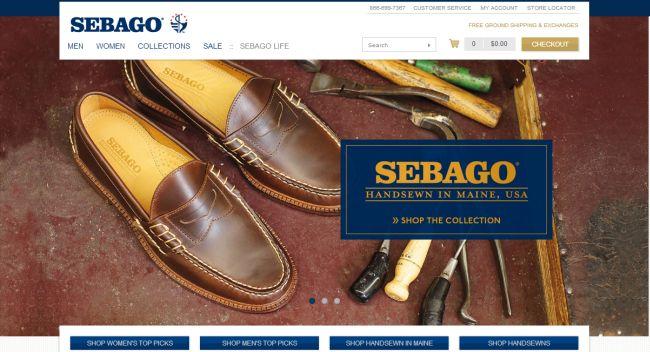 Интернет-магазин Sebago.com