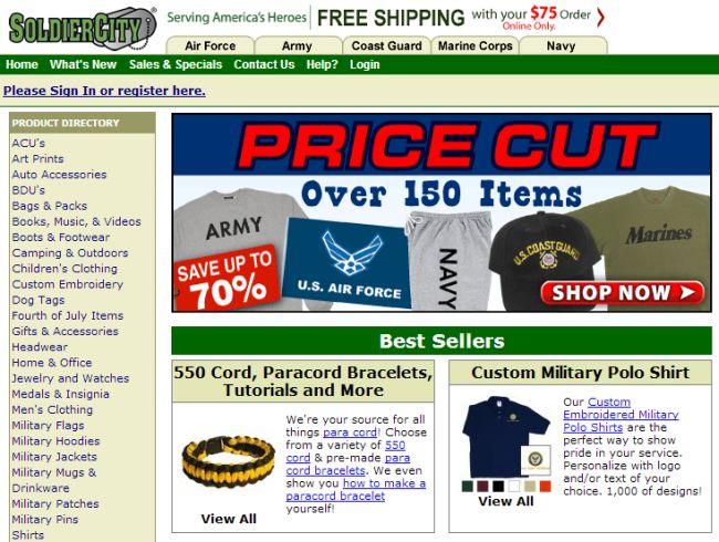 Интернет-магазин Soldiercity.com