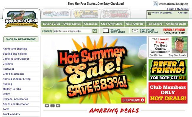 Интернет-магазин Sportsmansguide.com