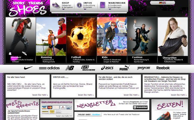 Интернет-магазин Sportstrendsshoes.de