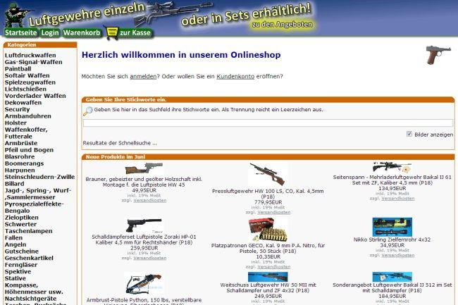 Интернет-магазин Sportwaffen-schneider.de