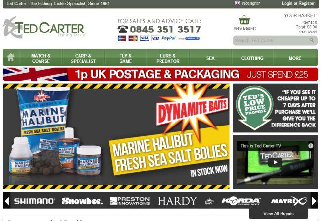 Интернет-магазин Tedcarter.co.uk