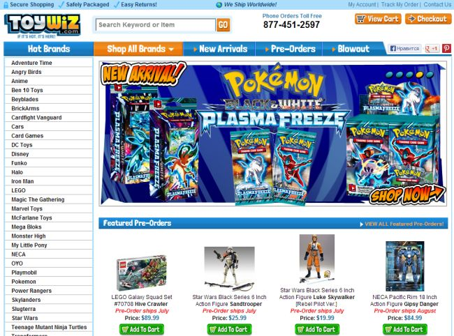 Интернет-магазин Toywiz.com