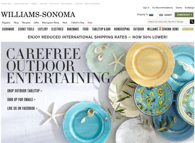 Интернет-магазин Williams-sonoma.com