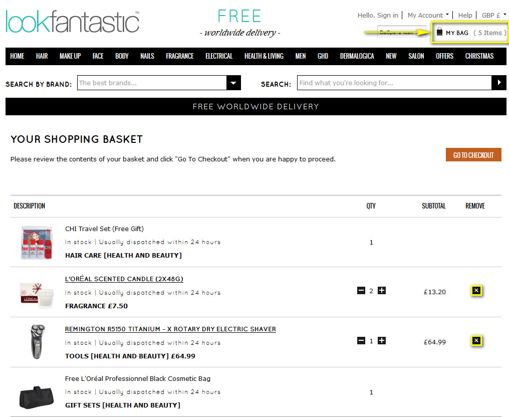 Как отменить или вернуть заказ на lookfantastic.com