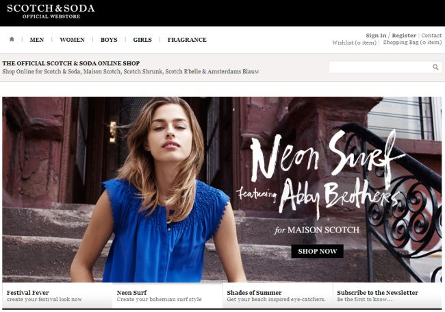 Интернет-магазин Webstore-all.scotch-soda.com