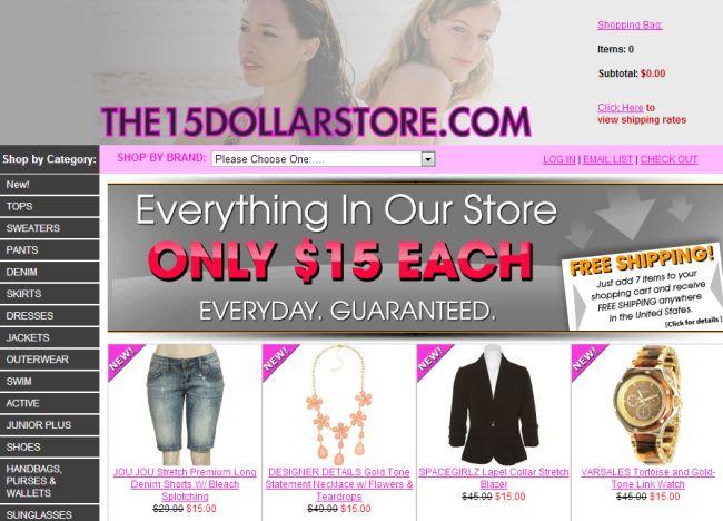 Интернет-магазин 15dollarstore.com